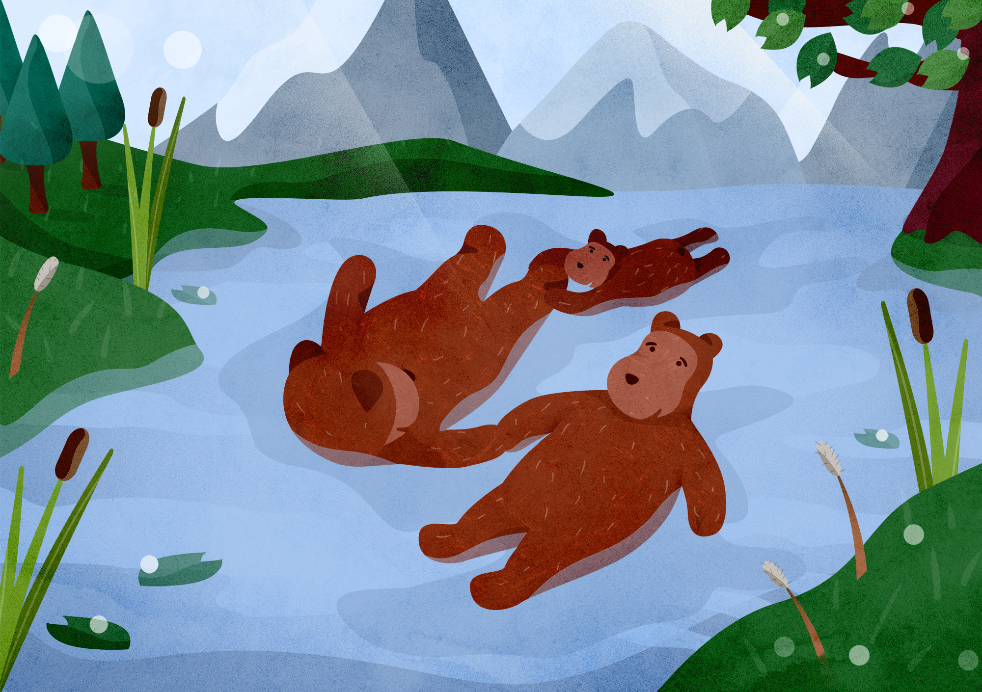 Bears in the River