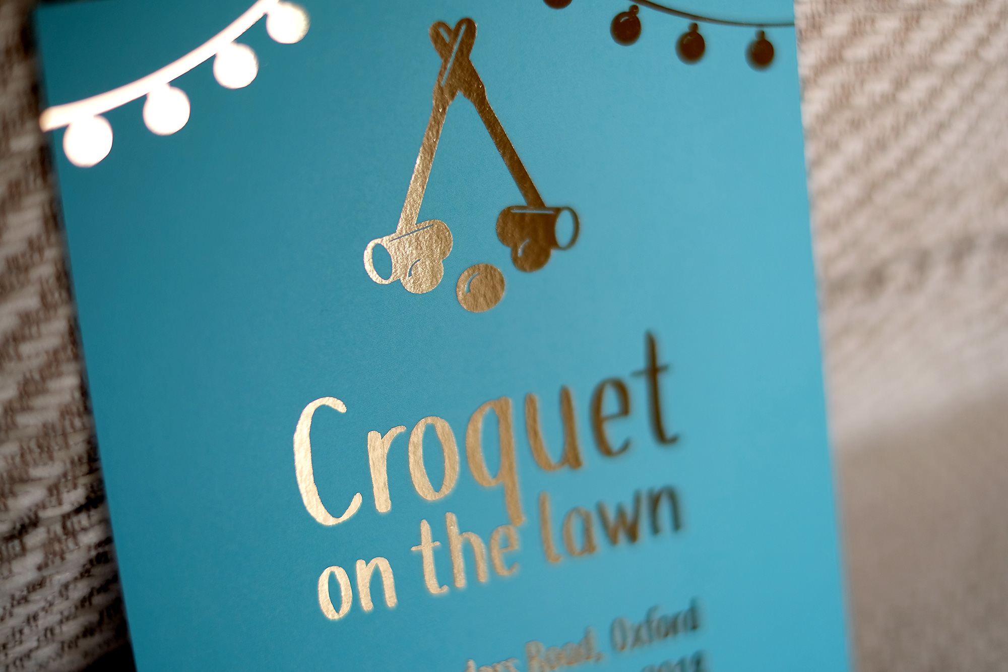 Croquet on the lawn – foiled invitations